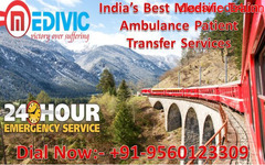 Get Medivic Train Ambulance from Patna to Delhi with Complete Medical Life Support Facility