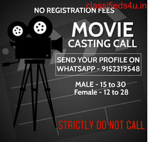 Artist Requirment for side supporting role - Bollywood Movie & Webseries NO REGISTRATION FEES