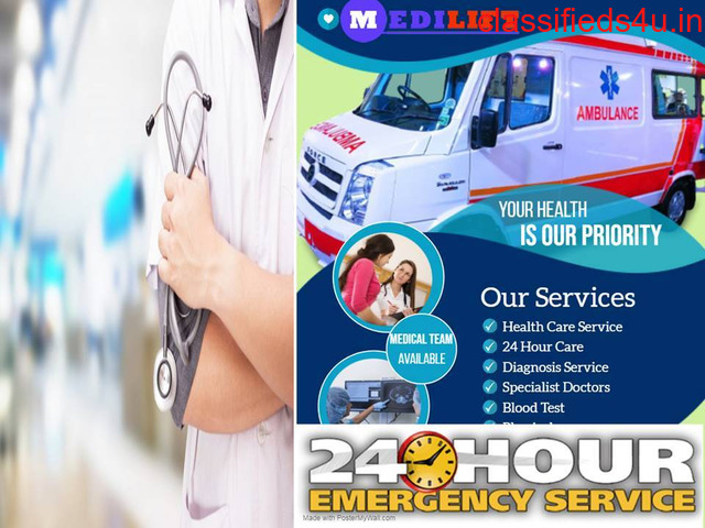 Pick Medilift Advanced Facility Ambulance Service in Rajendra Nagar