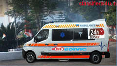Take India No-1 Ambulance Service in Jamshedpur with Doctor by Medivic