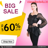 Buy Black Net Crop Top for Women Online