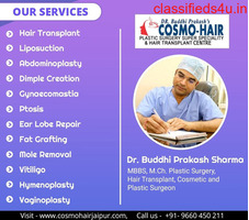 Get the best hair specialist in Jaipur at Cosmo-Hair clinic.