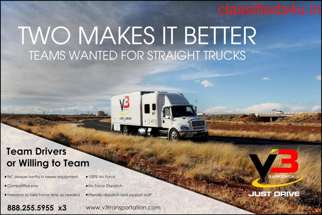 Straight Truck Solo Drivers and Teams wanted for expedite freight hauling