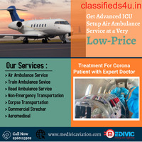 Get Medivic Air Ambulance Services in Bagdogra with MD Physician