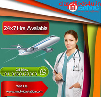 Supersonic Medical Support Air Ambulance Services in Raipur by Medivic
