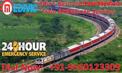 Well-Maintained Train Ambulance from Ranchi to Bangalore by Medivic