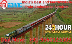 Advanced Life Support Train Ambulance from Ranchi to Chennai by Medivic