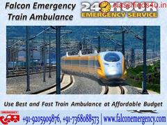 Get Affordable Train Ambulance Patna to Delhi with ICU Setup – Falcon Emergency