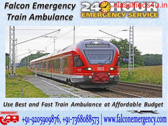 Use Falcon Emergency Train Ambulance Services from Dibrugarh with ICU Facility