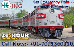 Get Quick and Fast Train Ambulance Services in Patna with ICU Setup by King