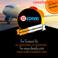 Choose ICU Enable Emergency Air Ambulance Service in Ranchi by Medivic
