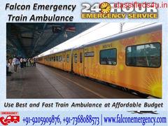 Get Best Medical Train Ambulance from Kolkata – Falcon Emergency