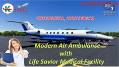 Book King Air Ambulance in Patna with Best ICU Facility