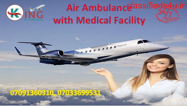 Pick Reliable ICU Setup King Air Ambulance in Mumbai with Doctor