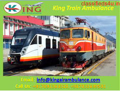 Get King Train Ambulance Services in Raipur with Full ICU Setup