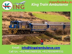 Get King Train Ambulance Services in Siliguri with ICU Doctor and Best Facility