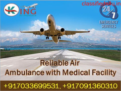 Hire Finest ICU Facility Air Ambulance Service in Patna by King