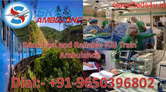 Get Low-Cost Train Ambulance in Patna with Medical Team by Sky Ambulance