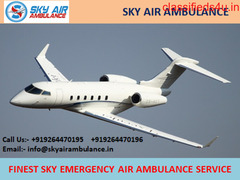 Take Finest and Safe Air Ambulance Service in Kharagpur by Sky