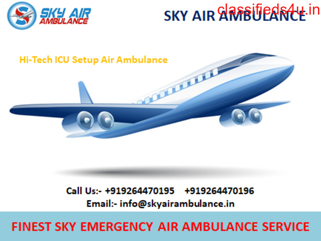 Sky Air Ambulance Service in Bilaspur Available with Medical Team