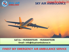 Credible Patient Care Sky Air Ambulance Service in Agra
