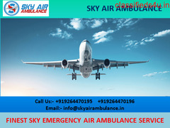 Take Outstanding Sky Air Ambulance Service in Delhi
