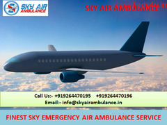 Shift Patient by Sky Air Ambulance Service in Kolkata