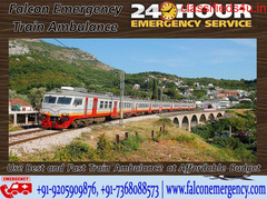 Get Train Ambulance Services in Patna - Falcon Emergency with Medical Facilities