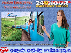 Use Train Ambulance Services in Delhi - Falcon Emergency at Low-Cost