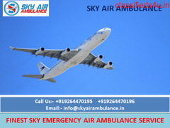 Outstanding Air Ambulance Service in Indore Available by Sky Air