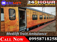 Get Affordable Train Ambulance Facilities in Patna – Medilift with Medical Team