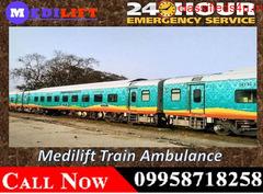 Medilift Train Ambulance in Kolkata provides Advanced Facilities