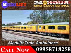 Hire Medilift Train Ambulance Services in Varanasi at a Low Fare