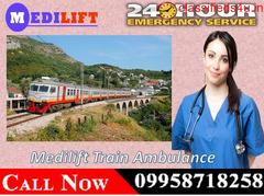 Get Medilift Train Ambulance Service in Siliguri for Best ICU Facility