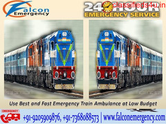 Get 24 Hrs Honestly Available for Falcon Emergency Train Ambulance from Patna