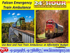 Get Fastest and 24 Hrs Helpful Falcon Train Ambulance from Kolkata