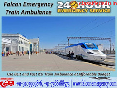 Get the Advance Support of the Train Ambulance in Patna by Falcon Emergency