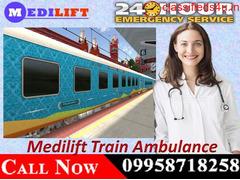 Now Medilift Train Ambulance in Delhi at the Minimum Budget