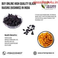 Buy Online High Quality Black Raisins (Kishmis) in India