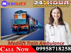 Get I.C.U Train Ambulance Service in Delhi with Medical Team by Medilift