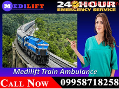 Use Medilift Air & Train Ambulance in Patna for Critical Patient Shifting