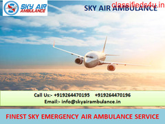 ICU Support Air Ambulance Service in Lucknow by Sky
