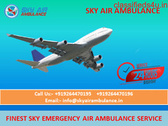 24 Hours ICU Support Air Ambulance Service in Raigarh