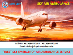 Domestic Air Ambulance Service in Vellore Available at Low-Fare