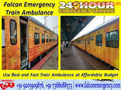 Get Train Ambulance in Bagdogra with Best Facility - Falcon Emergency