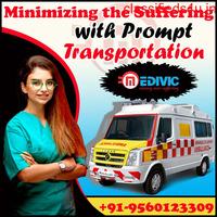Fastest Road Ambulance Service in Saguna More, Patna by Medivic