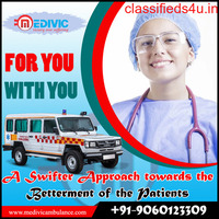 Rapidly Patient transfer Ambulance Service in Rajendra Nagar by Medivic