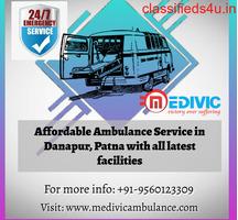Low Fare Ambulance Service in Danapur, Patna by Medivic
