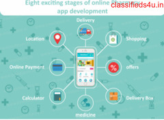 8 main stages of online Pharmacy Application development