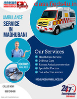 Without Difficulty shifting a patient by Medilift Ambulance Service in Madhubani